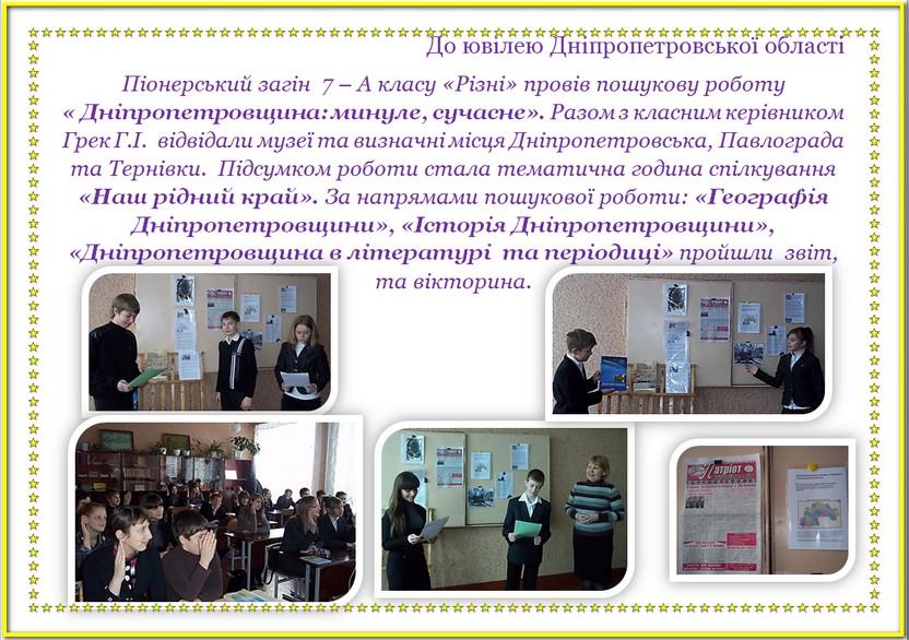 Година спілкування 7-А клас
